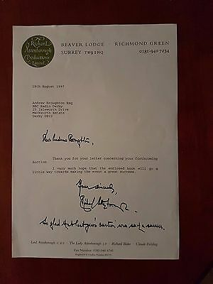 Sir Richard Attenborough 1997 Typed Letter Signed