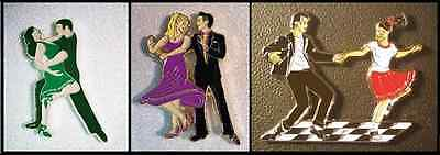 """Trio Dance Gifts/Magnets/Pins: """"Salsa Verde"""", """"Steppin' Out"""", """"Happy Dayz"""""""