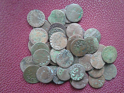 45 Old Antique LITHUANIAN-POLISH Coins of 1666 (Buratinki)
