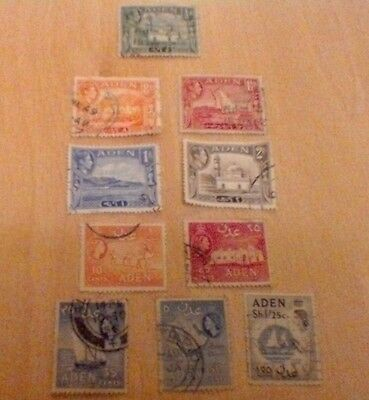Aden  Selection Of Used Stamps