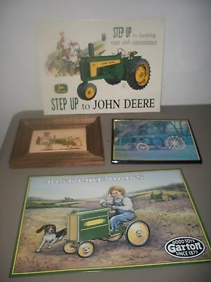 Collectible John Deere Tin Signs 2 and Pictures 2