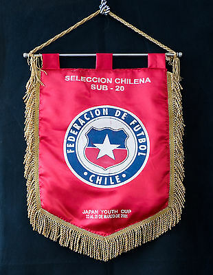 Official match pennant Chile - Ukraine 2001 Japan Youth Cup