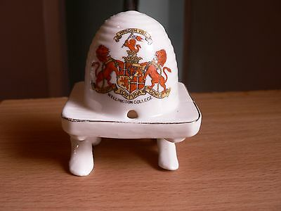An Arcadian Crested China Beehive . Waterloo College Crest