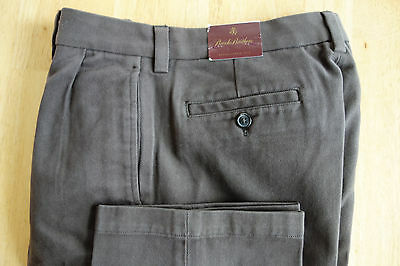 NWOT Brooks Brothers Boy's Dark Brown Brushed Twill Pants Size 18  MSRP $59.50