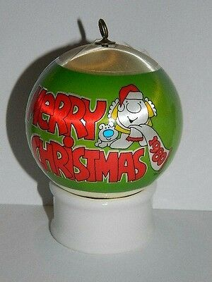 Vintage dated 1980 Ziggy Silk-Wrapped Christmas Ornament Decoration Ball