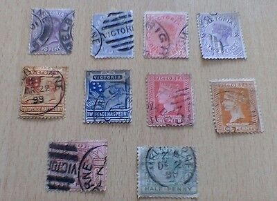 Australia ( Victoria) Selection Of Used Stamps