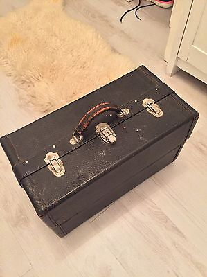 Vintage Doctors Leather Case And Medical Equipment