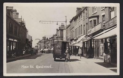 Vintage Real Photo Postcard Main Road Eastwood posted in 1952 Nottinghamshire