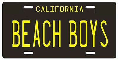 The Beach Boys Reproduction California License Plate (Custom Vanity Plate)