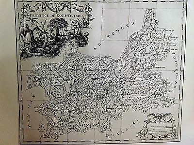 1703 Antique Map Of The Province Of Kwei-Chow, China - D'anville - Reproduction