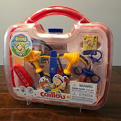 New CAILLOU CHECK-UP Medical Doctor Kit D1