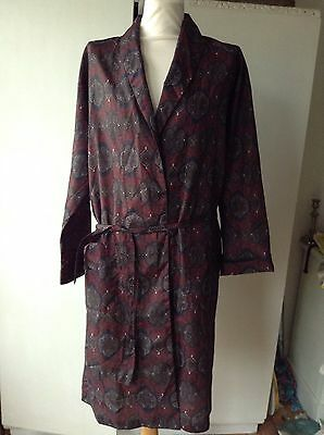 Vintage Tootal Regency Paisley Pattern Smoking Jacket Dressing Gown Robe Med