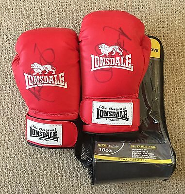 Signed Anthony Agogo Boxing Gloves