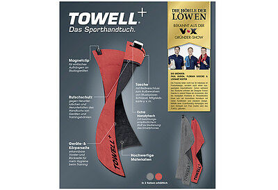 Towell+ Towell Plus Sporthandtuch Multifunktions Handtuch Höhle der Löwen rot