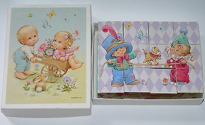 Ruth Morehead puzzle blocks forest animals friends girl boy circus 6 sided toy