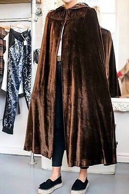 Bourne Hollingsworth Deco Silk Velvet Golden Brown Opera Cape Cloak Wedding