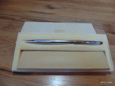 Chrome Cross Pen  With Pen Sheath And Box Lot # 9
