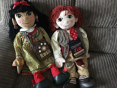 Rosie And Jin Large 30' Inch Rare Complete Dolls