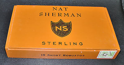 NAT SHERMAN STERLING WOOD CIGAR BOX - For craft jewelry boxes guitar stomp boxes