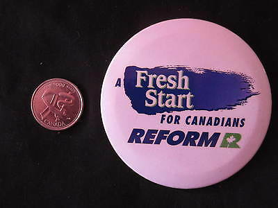Reform Party of Canada Slogan Button #1 *WOW*