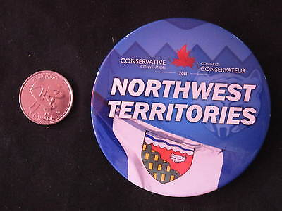 2011 Conservative Party of Canada Convention Button Northwest Territories *WOW*