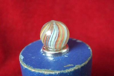 2# Antique Victorian Twist Glass Marble  With A Rough Pontil