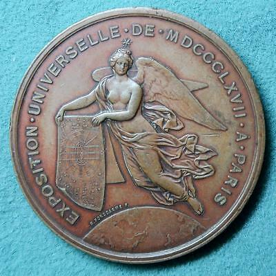 France Napoleon III Exposition Universelle1867 Paris medal copper by H Ponscarme