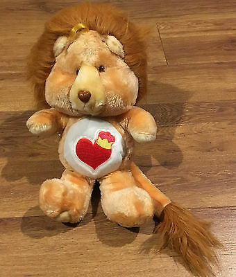 "VINTAGE 1980's CARE BEAR COUSIN BRAVE HEART LION 13"" KENNER PLUSH TOY"