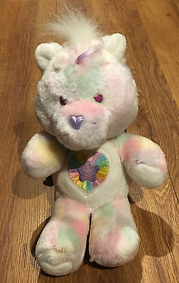 "Rare - Care Bear Cousins Noble Heart Horse 13"" Vintage Plush Kenner Soft Toy"