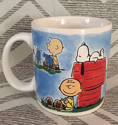 Charlie Brown Coffee Mug Cup Snoopy Music Notes Collectible