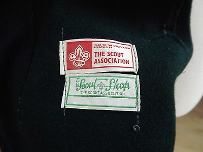 Vintage c1960s/70s Retro Scout Association Green Wool Jacket,No Holes Or Tears.