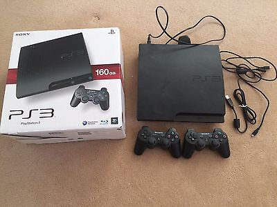 Sony PlayStation 3 Slim 160 GB upgraded to 300GB + 2 controllers