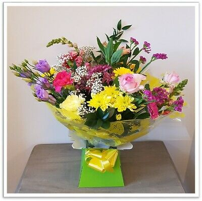 Fresh Real Flowers Delivered Rainbow Selection Florist Choice Mixed Bouquet