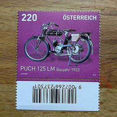 Stamp Austria MOTORCYCLE Puch 125 LM MNH motocicleta motorbike