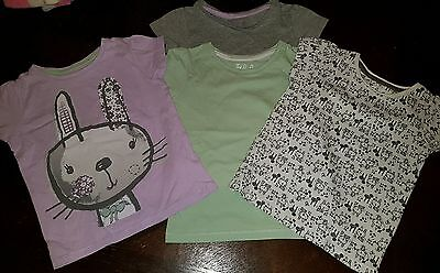 girls 18-24 months bunny rabbit easter t-shirts top set clothes next