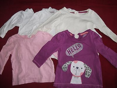 Baby Girls 3-6 Months Bundle - 5 Long Sleeved Tops