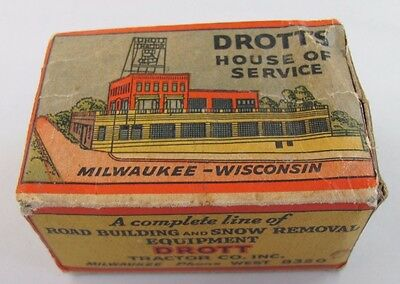 Vintage DROTT'S Tractor Co. Parts Box MILWAUKEE Wisconsin WI GM Allis Chalmers