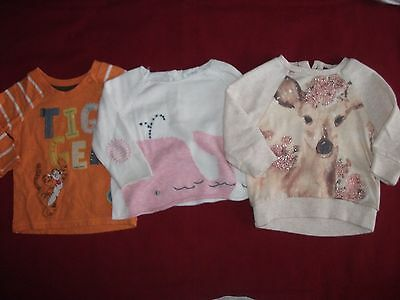 Baby Girls 3-6 Months Bundle - 3 Jumpers