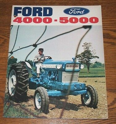 Ford 4000 & 5000 Tractors Advertising Sales Brochure Colorful