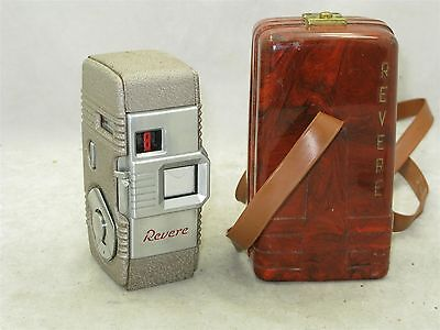 Revere Model Fifty Five 8mm Movie Camera with Art Deco Bakelite Clamshell Case