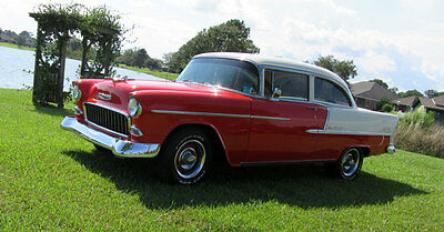 1955 Chevrolet Bel Air/150/210 Bel Air 2 Door Sedan Beautifully Restored 1955 Chevy Bel Air 2 Door Sedan 350 V8 3 Sp Auto A/C & More