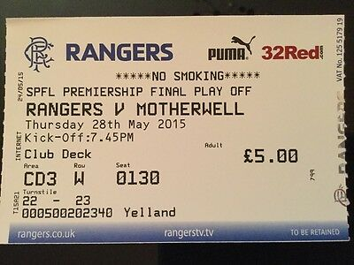 Rangers v Motherwell Play Off Final May 2015
