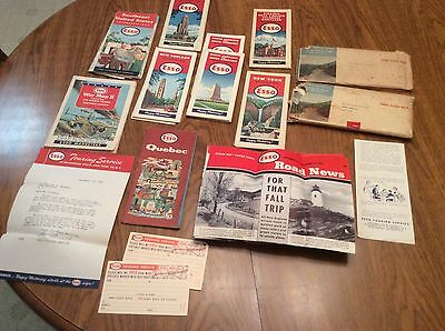 Old ESSO asst ROAD MAPS 1940s-50s + WW2 + Road News, Letter, Requests