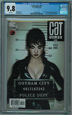 Catwoman #51 Cgc 9.8 Adam Hughes Cover White Pages 2006