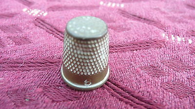 Size 6 Antique Brass Thimble, Very Small, Child Size