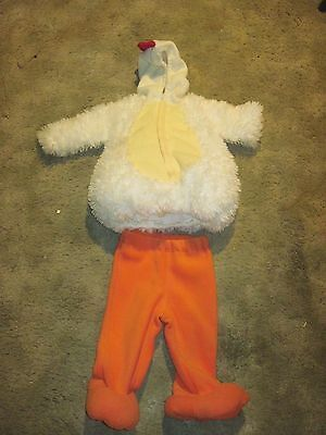 Baby Rooster Halloween Costume..12/18 mos..Hooded Open Face VelcroJacket & Pants