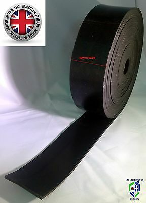 Garage door rubber or brush draught excluder or vermin seal strip 60mm x 3mm