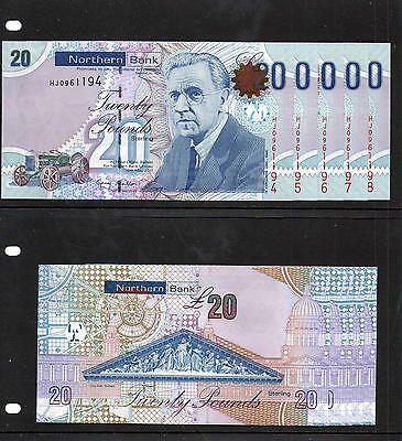 Northern Ireland - FINAL PRINT - Northern Bank £20 note - 2011 - In Sequence UNC