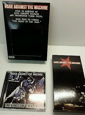 Rage Against The Machine Live Concert VHS w/ Cd Single The Ghost of Tom Joad