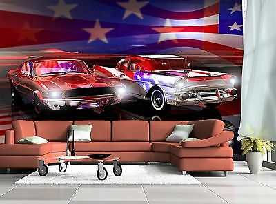 American Car Wall Mural Photo Wallpaper GIANT WALL DECOR Paper Poster Free Paste